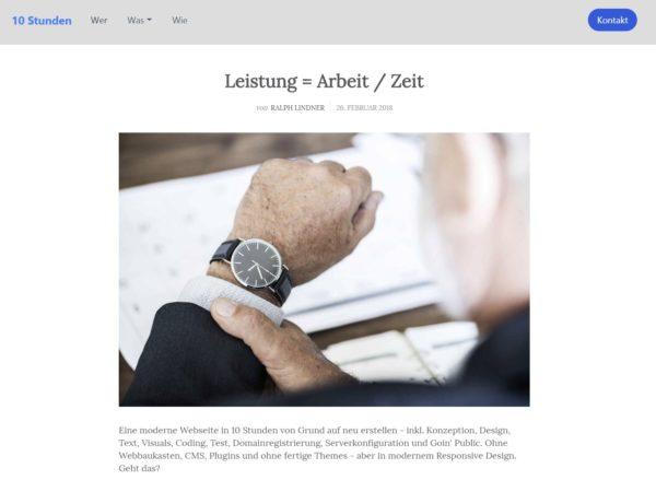 Vorschau der Webseite 10stunden.de