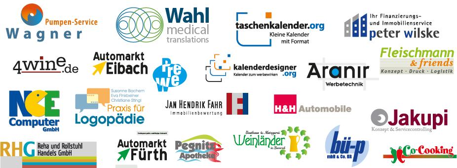 Logoentwürfe der Agentur Lindner