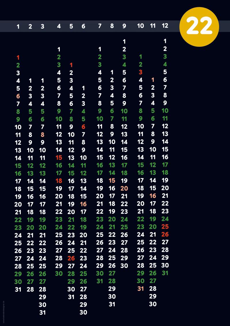 Jahreskalender Design Typ16
